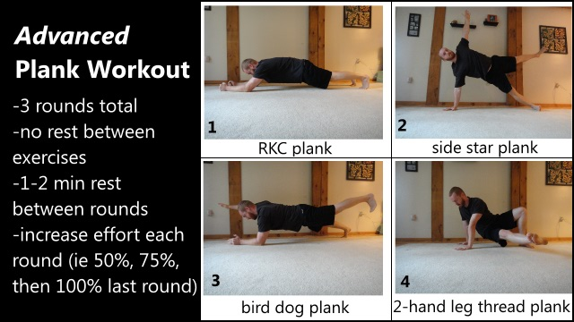 advanced 3D plank workout for the abs and core