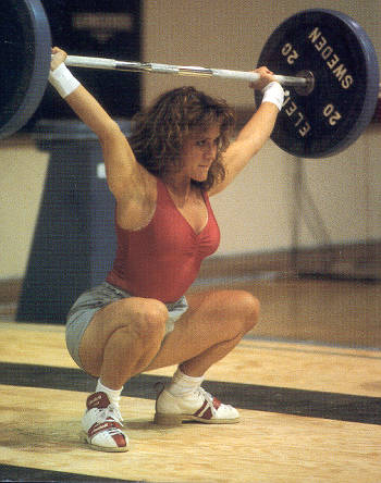 female weightlifter