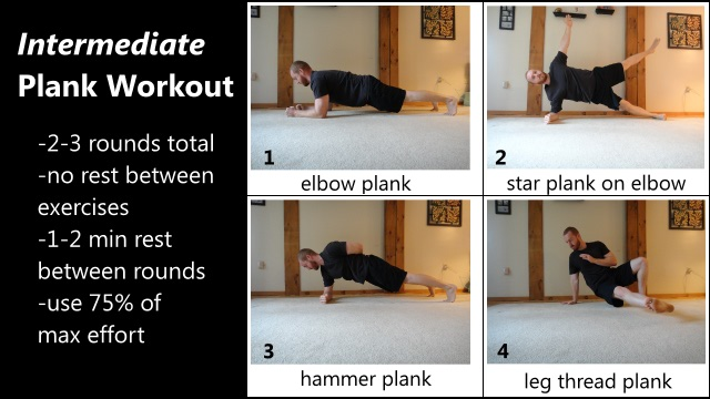 intermediate level 3D plank workout for the abs and core