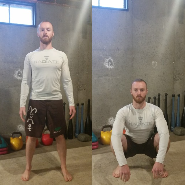 how to do bodyweight squat exercise