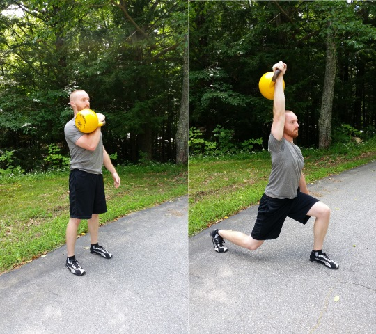 John Sifferman - kettlebell lunge with press
