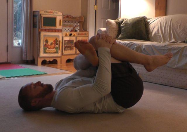laying piriformis stretch