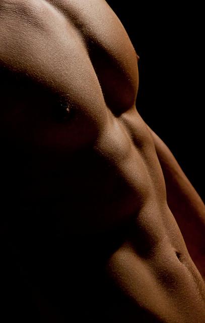 male abs shadows