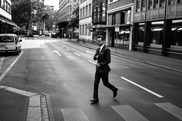 male in city
