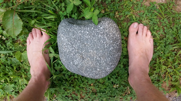 my rock and my feet