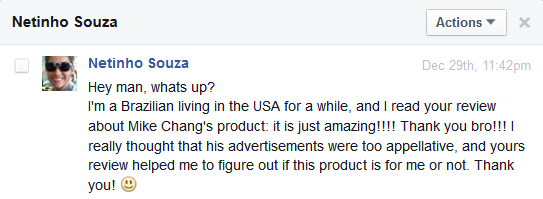 fitness product review testimonial 2