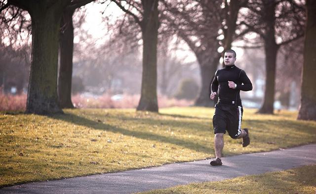 new years resolution - male runner