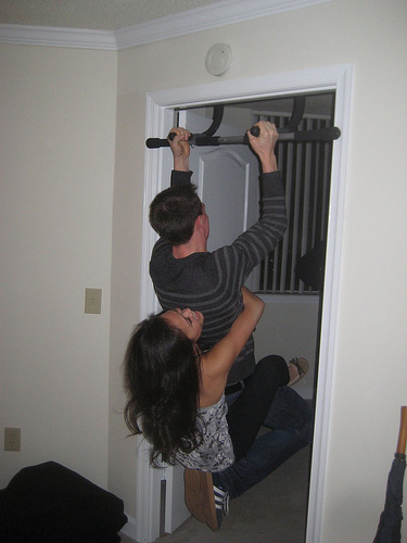 Well, that's one way to do it...partner-assisted pull-ups.